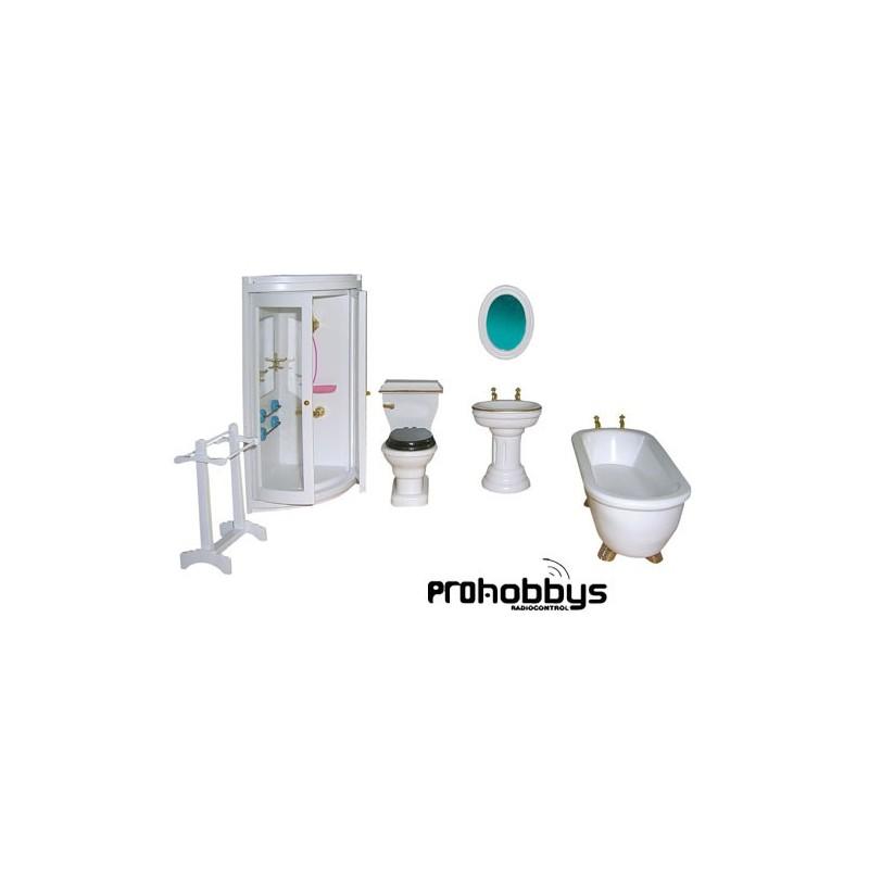 Baños Con Ducha Bonitos:CASAS DE MUÑECAS > Accesorios > Baño Con Ducha 1/12