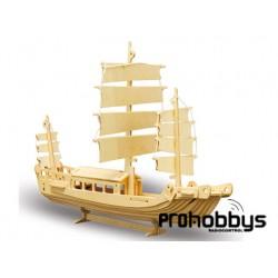 Kit barco Junco de madera Pebaro