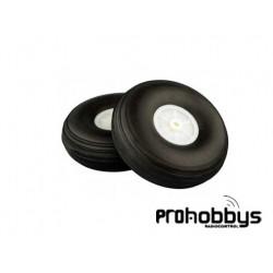 Ruedas ligeras con llanta Nylon 50mm (2 uds)